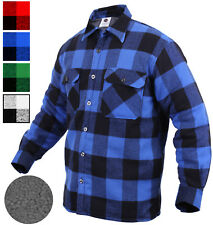 Extra Heavyweight Buffalo Plaid Sherpa Lined Brawny Flannel Shirt