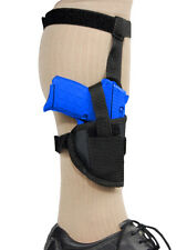 Barsony Gun Concealment Ankle Holster for Kahr, Beretta 380 Ultra-Comp 9mm 40 45