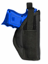Barsony OWB Gun Belt Holster for Springfield Compact, Sub-Comp 9mm 40 45