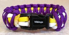 MINNESOTA VIKINGS~NFL~Stylish 3 Color 550 Paracord Bracelet~Peterson~Cassel~WOW