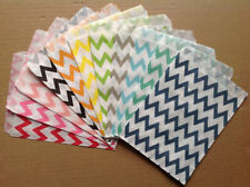 25 PCS Chevron Striped Biscuit Snack Popcorn Fries Hamburger Food Oil Paper Bags