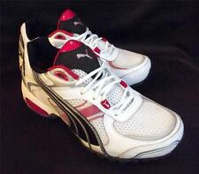 PUMA Running Crossfit Walking Cell Summanus Jrs White Red Shoes Boys Size 1.5 3