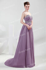 5Colors 8Sizes Formal Lady Evening Prom Long Dress Bridesmaid Cocktail Ball Gown