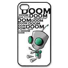 New Design Purple Gir Invader Zim Doom Fans iPhone 4 / 5 Black Hard Case