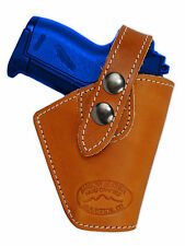 Barsony OWB Saddle Tan Leather Belt Clip Holster Ruger Kel-Tec Mini 22 25 380