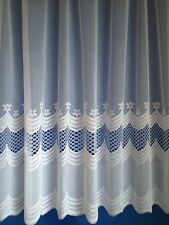 PREMIUM QUALITY White  NET CURTAIN SKYE , SOLD BY THE METRE 36 - 90 inch drop