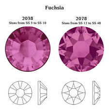 SWAROVSKI ELEMENTS Flat Back 2038 Foiled Hotfix Rhinestones * All Sizes & Colors