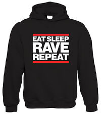 Eat Sleep Rave Repeat Hoodie - DJ Acid HTID Hardcore - All sizes from S to 5XL