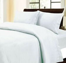 VARY SOFT 1500TC 100% EGYPTIAN COTTON 4PC SHEET SET WHITE SOLID CHOOSE SIZE DEEP