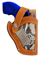 New Barsony Tan Leather Python Snake Skin Gun Holster Taurus Snub Nose 2""
