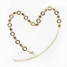 Ladies Silver/Gold Toned Chain Link Hip Wrap Metal Belts Fashion Belts UD012013
