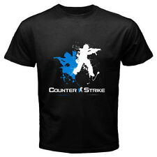 New COUNTER STRIKE Logo Famous Online Games Men's Black T-Shirt Size S to 3XL