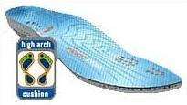 RUNNING - ORTHOTICS - FOOTDISC - BLUE FOR HIGH ARCHED FEET (009274)