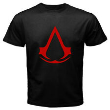 New Assassin's Creed EZIO CLAN Logo Video Game Men's Black T-Shirt Size S to 3XL
