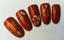 Glittering Butterflies Nail Art Water Decals For Natural/False Nails