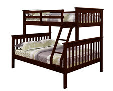 Twin over Full BUNK BED - Donco Kids - Wood w/xtra Full Support Bar Cappuccino 1