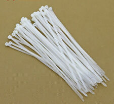 1000PCS kinds of White Network Cable Cord Wire Strap Zip Tie Nylon 3*80-200mm