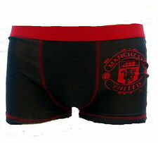 Manchester United Football Club Boys Black Boxer Shorts Age 5-12 Years Available