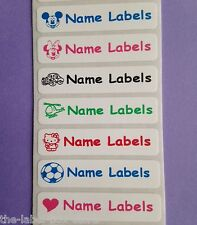 25 Stick on School Children Nursing Home Name Labels Stickers for Bottles etc