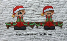 Christmas Elf boy premade paper piecing scrapbook page album embellishment tbd