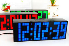 Digital Big Number LED Wall Desk Calendar Temperature Snooze Time Alarm Clock