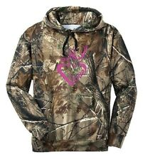 Deer Buck Doe Love Heart Camo Hoodie Country Girl Deer Outdoor Hunt Ladies Women