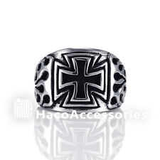 High Quality Men's 316L Stainless Steel Cross Ring SIZE 9 10 11 12 mssr45