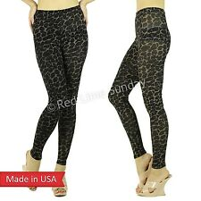 Women Sexy Tiger Leopard Animal Print Sparkle Spancole Leggings Tight Pants USA