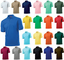 Hanes Beefy Polo Shirt Cotton Personalised Embroidered text or logo*  S-2XL