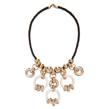 Janeo Lucite Rose Gold Links Fashion Chunky Necklace Christmas Gift For Her £6