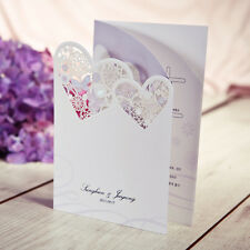 1Sample  Heart shape Wedding Anniversary Invitations 1Card+ Envelope /TU013