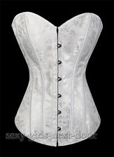 White Wedding Steel Boned Corset S-2XL waist Cincher Bustier Lingerie Top A2869