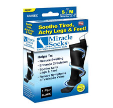 New in Box Miracle Socks Casual Anti Fatigue Compression Socks As Seen On TV