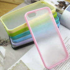Soft TPU Bumper With Matte Clear Hard Back Case Cover For Apple iPhone 5 5S 5G