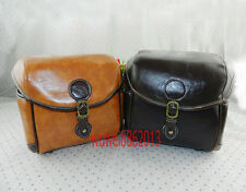 Artificial leather camera bag for nikon canon sony fuji pentax olympus casio