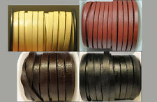 100% Real Flat Leather Cord - 5MM*2MM String Lace Thong Jewellery - Best Quality