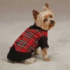 Tartan Plaid Dog Vest Traditional High-Cut Button-Down Style Christmas Holiday