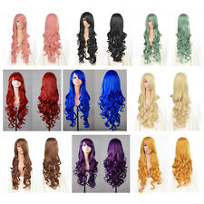 """32"""" 80cm Long Hair Heat Resistant Spiral Curly Cosplay Wig 9 Colors"""