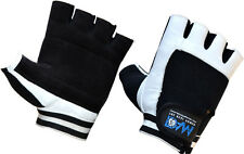DAM LEATHER WEIGHT LIFTING GLOVES,BODY BUILDING FITNESS MEN'S WOMEN'S UNISEX S-L