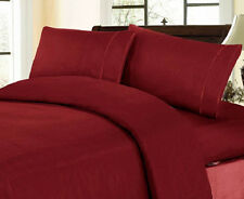 1000TC Designer Soft Duvet Cover Set Burgundy Solid Zipper Closure 100%Cotton