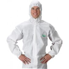 New Disposable DIY Paper Suit Protective Lab Paint Overall Zip Front Safegard 76