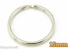15MM SPLIT RINGS KEY KEYRINGS  ROUND RING KEYRING KEYS CLASP 10 to 1000