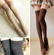 Sexy Womens Lady Girls Opaque Knit OverKnee Thigh High Stockings Socks Pantyhose