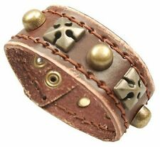 Janeo Mens Celtic Trendy Leather Wristband Strap Jewellery Christmas Gift Him