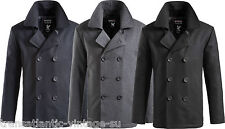 SURPLUS VINTAGE US NAVY PEA COAT MENS CLASSIC ARMY REEFER JACKET WOOL MIX S-2XL