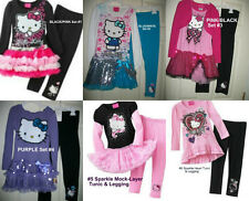 * NWT NEW GIRLS 2PC Hello Kitty TUTU SHIRT PANTS WINTER OUTFIT SET 2T 4 5 6x 7