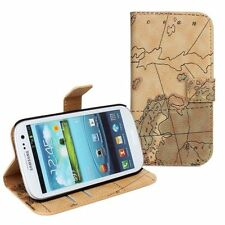 ID CARD World Map Magnet Leather Case Cover For Samsung S3 S4 MINI HTC LG Google