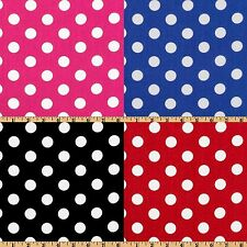 "25 Yards Polka Dot Satin Fabric 60"" Wide 100% Polyester Charmeuse Wholesale"