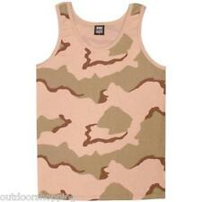 TRI-COLOR DESERT CAMOUFLAGE USA MADE TANK-TOP – Summer Shirt, Physical Training