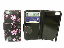 FLORAL FLOWER FLIP LEATHER WALLET BOOK CASE CARD HOLDER FOR APPLE IPOD TOUCH 5